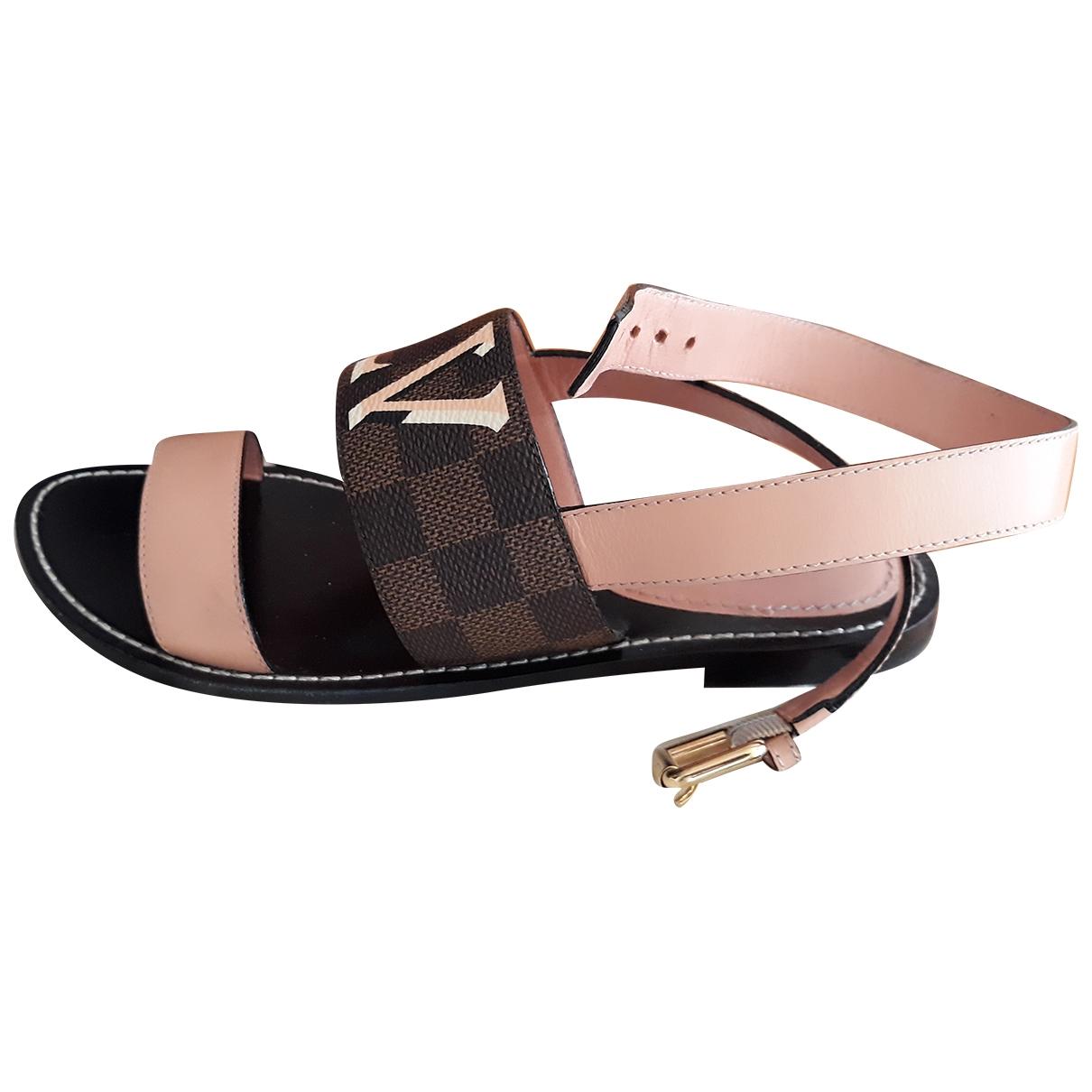Sandalias romanas Passenger de Cuero Louis Vuitton