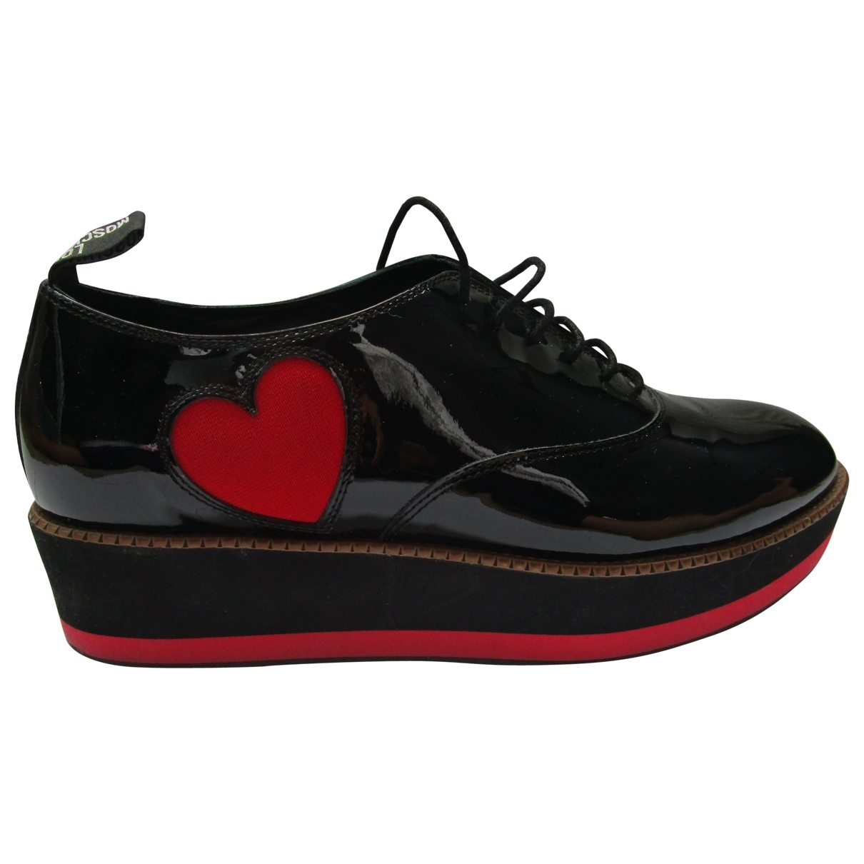Moschino Love \N Black Patent leather Flats for Women 39 EU