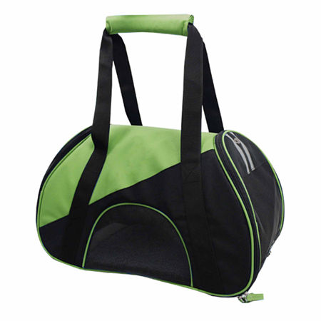The Pet Life Airline Approved Zip-N-Go Contoured Pet Carrier, One Size , Green