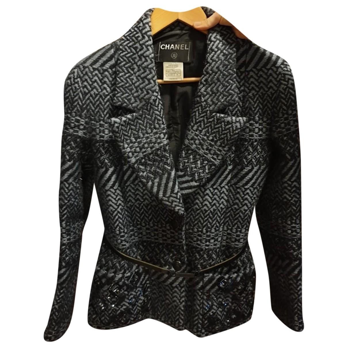 Chanel - Veste   pour femme en laine - gris