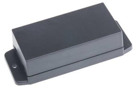 RS PRO Black ABS Enclosure, Flanged, 90 x 45 x 27mm