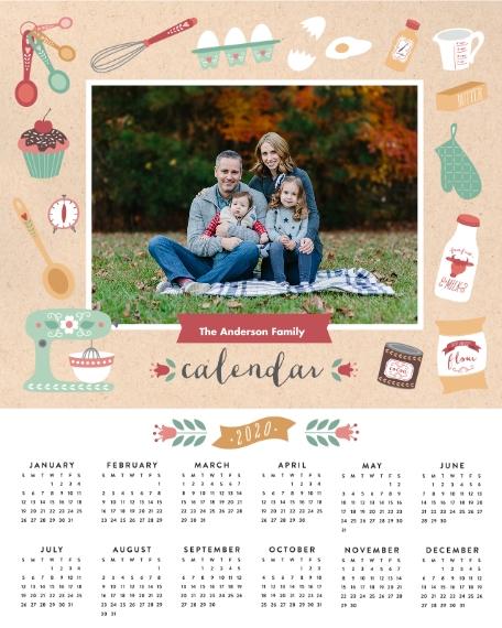 Calendar 16x20 Poster, Home Décor -Seasonally Sweet