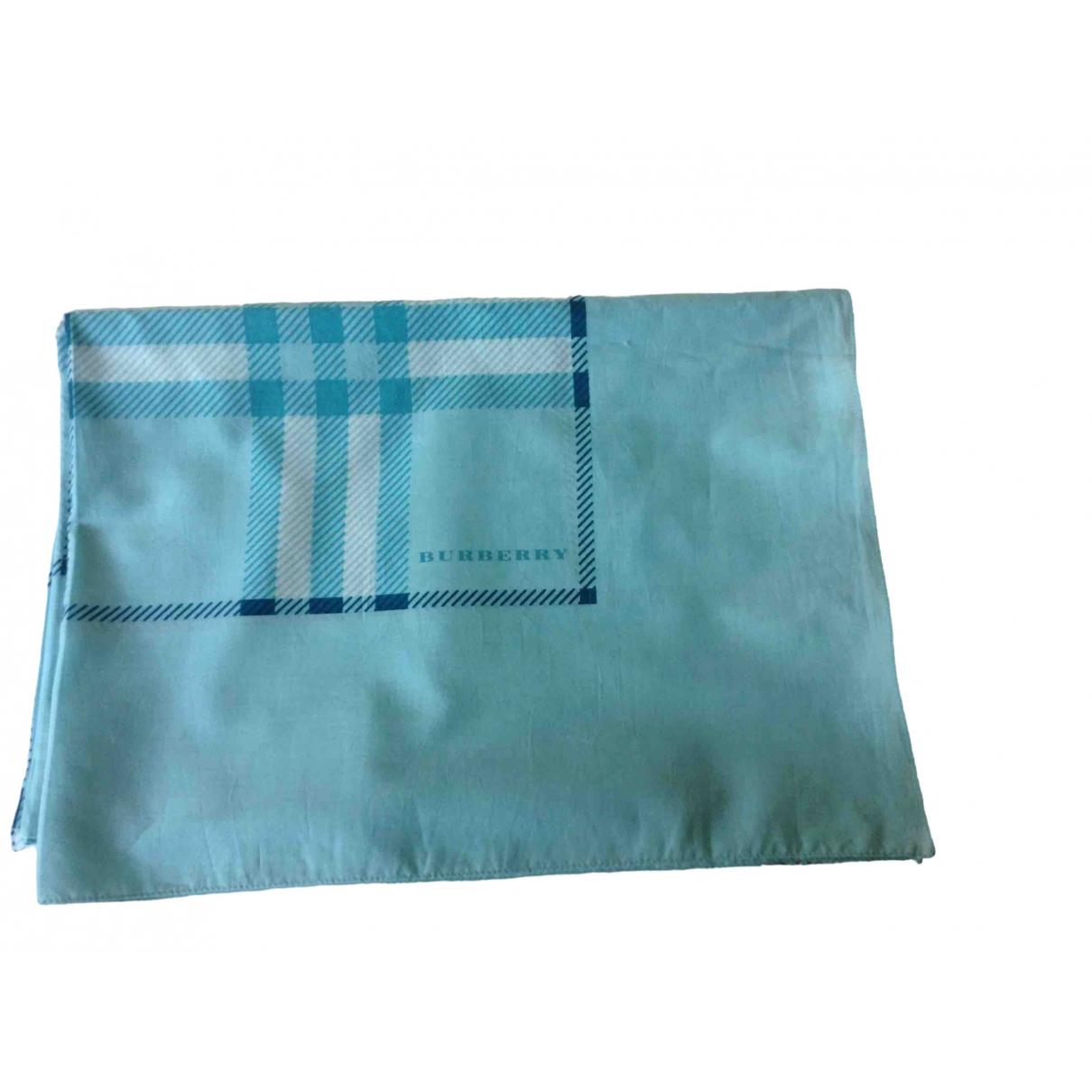Burberry - Foulard   pour femme en coton - bleu