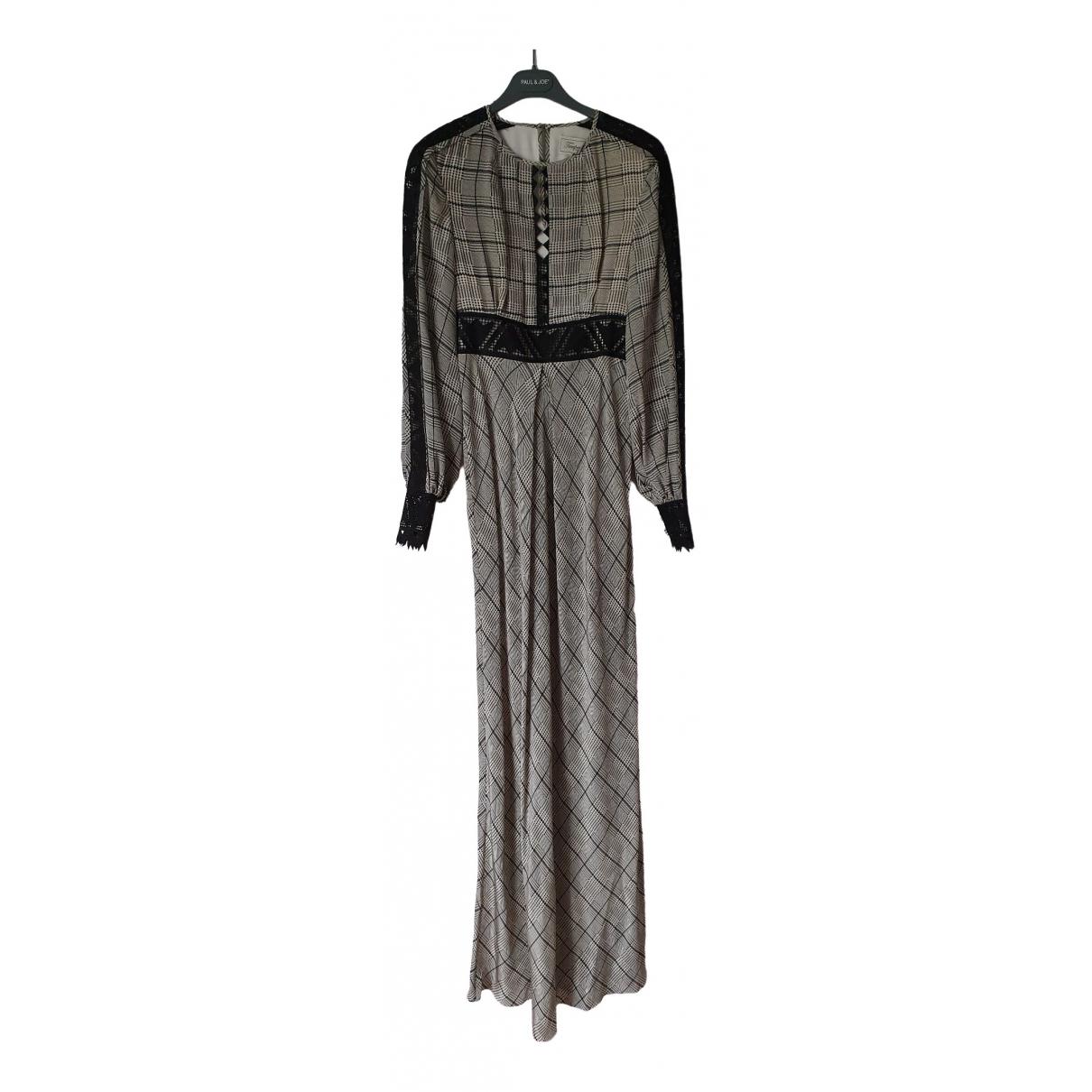 Temperley London \N Grey Silk dress for Women 6 UK