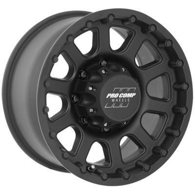Pro Comp 32 Series Bandido, 17x9 Wheel with 8 on 170 Bolt Pattern - Flat Black - 7032-7970