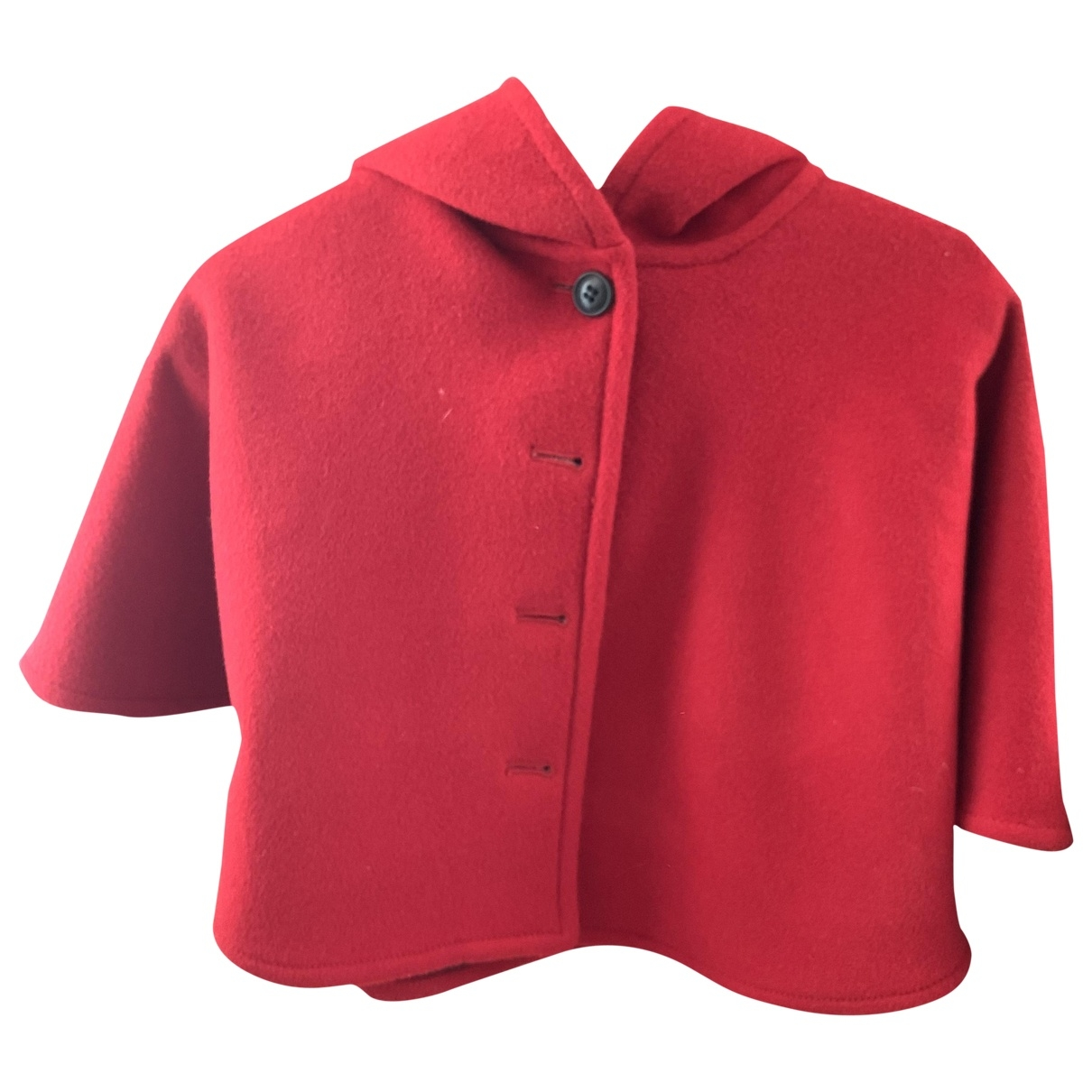Burberry \N Jacke, Maentel in  Rot Wolle