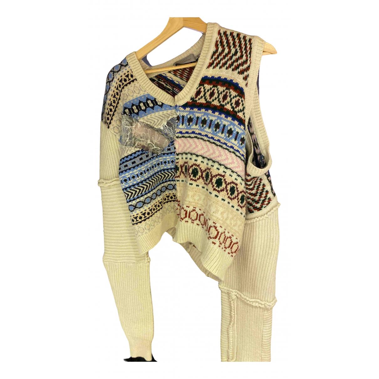 Preen By Thornton Bregazzi - Pull   pour femme en laine - ecru