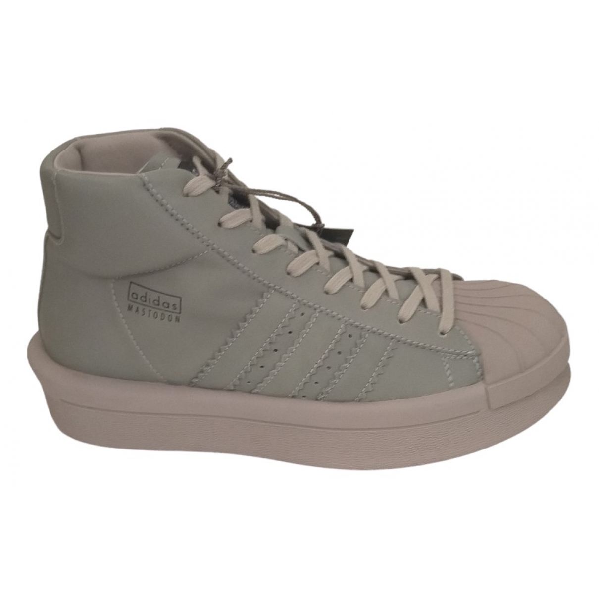 Adidas & Rick Owens N Grey Leather Trainers for Men 8 US