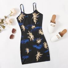 Angel Print Cami Dress