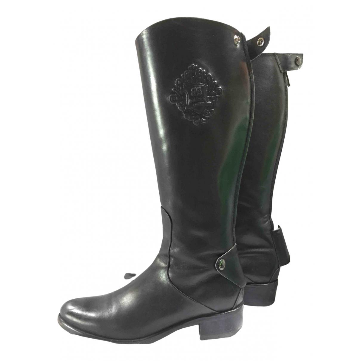 Baldinini - Bottes   pour femme en cuir - noir
