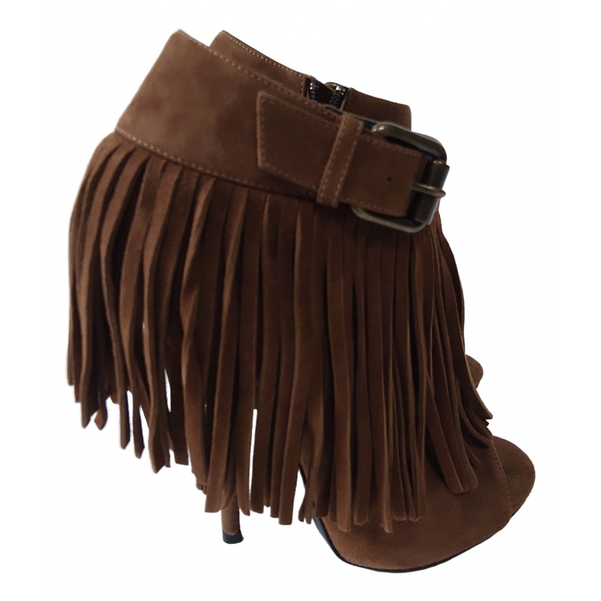 Giuseppe Zanotti \N Brown Suede Ankle boots for Women 37.5 EU
