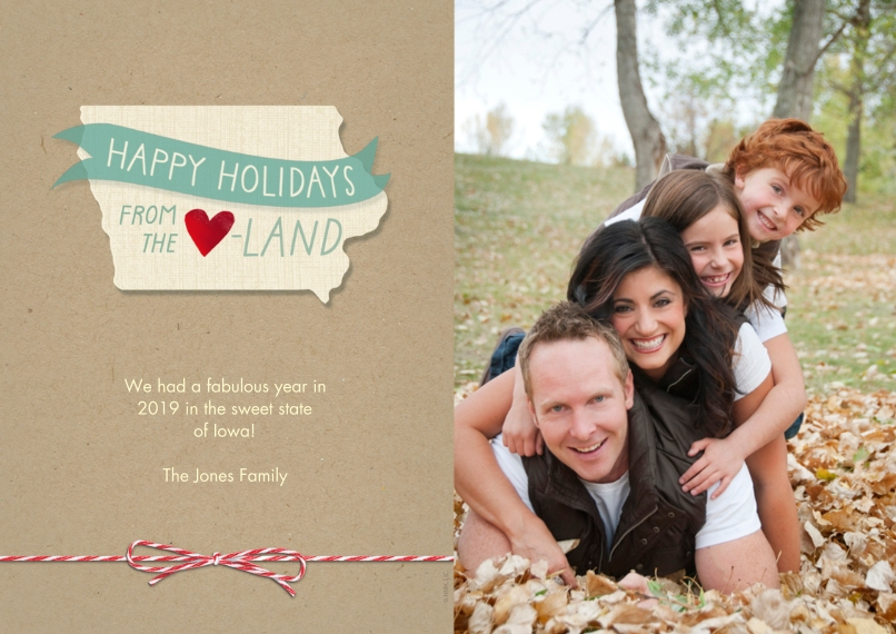 Christmas Photo Cards 5x7 Cards, Premium Cardstock 120lb, Card & Stationery -Happy Holidays From the Heartland by Hallmark