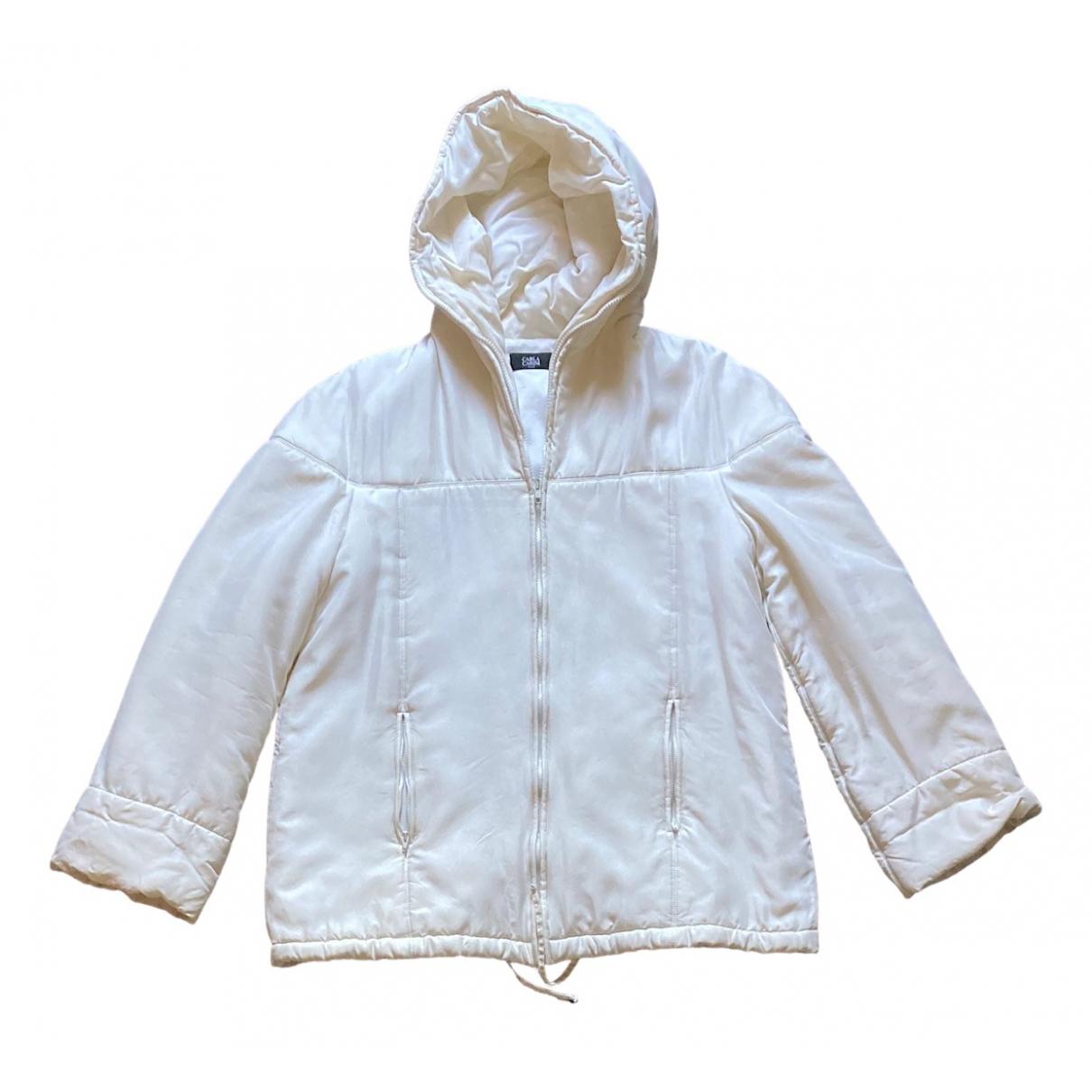 - Veste   pour femme en soie - blanc