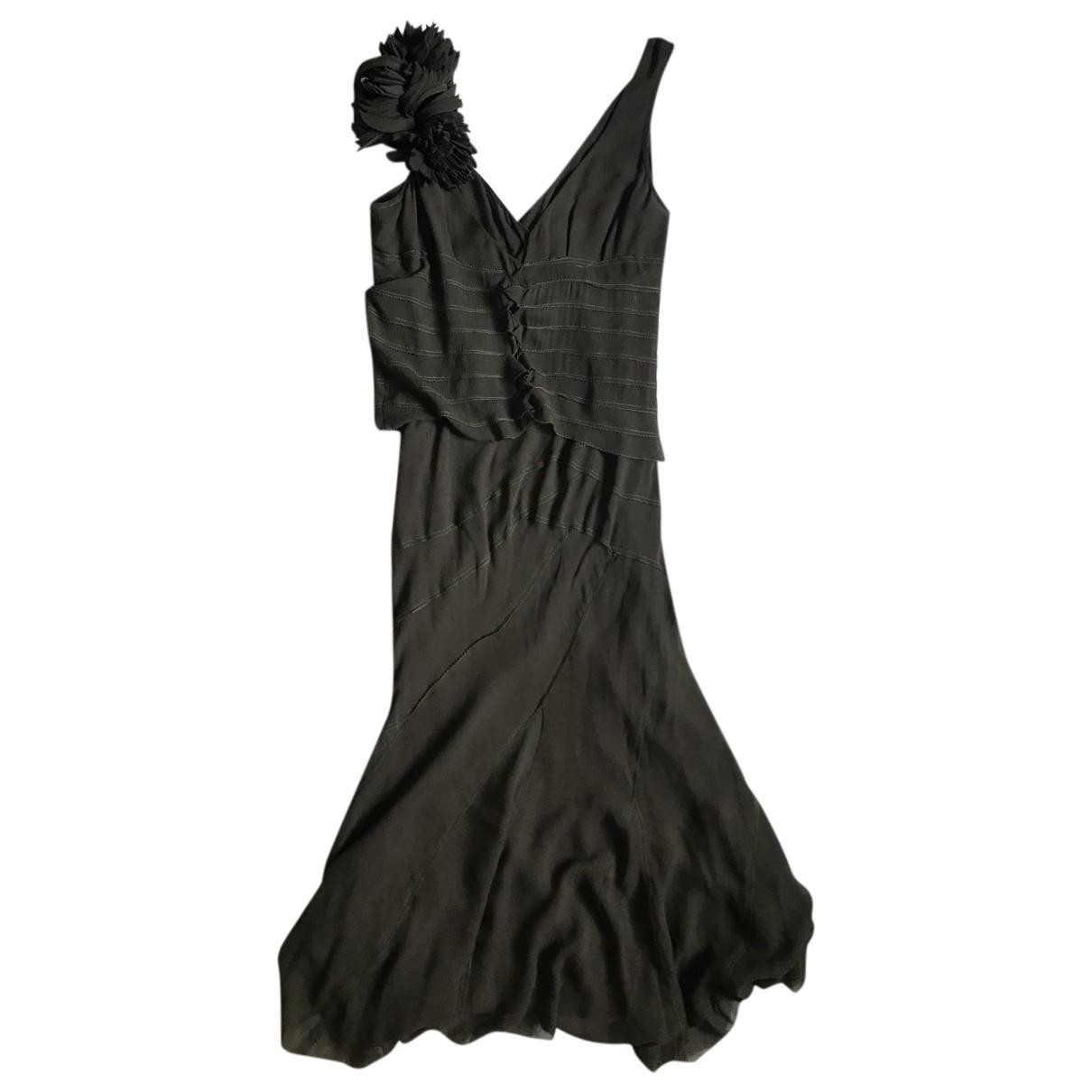 Dkny \N Kleid in  Khaki Seide