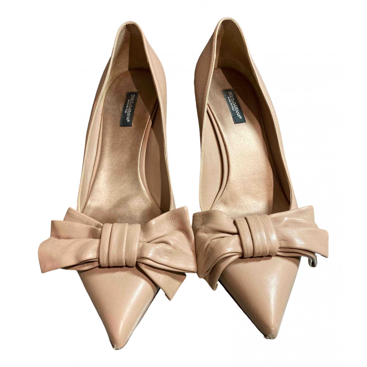 Dolce & Gabbana \N Pumps in  Beige Leder