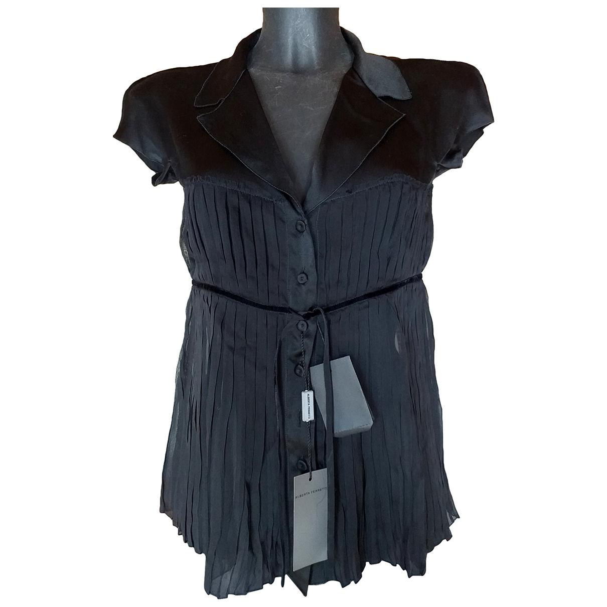 Alberta Ferretti \N Black Silk  top for Women 40 IT