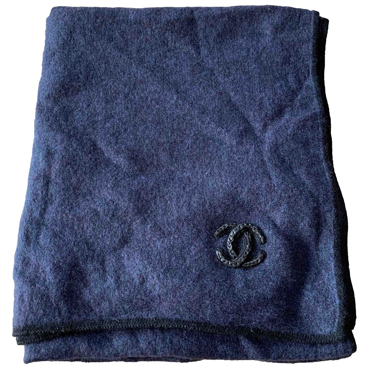 Chanel - Foulard   pour femme en cachemire - marine
