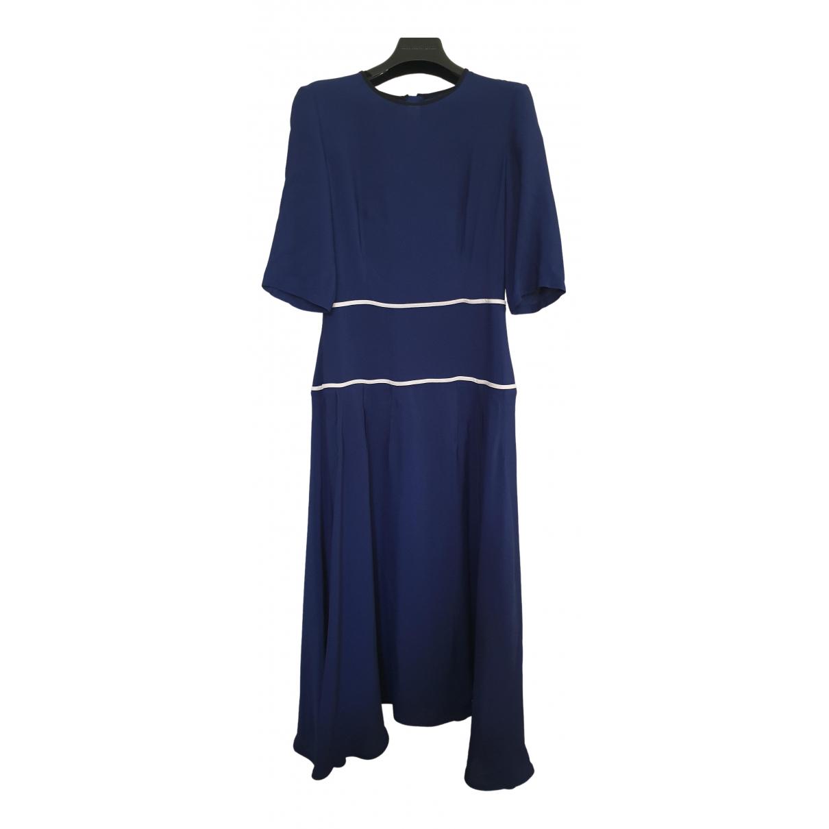 Marni - Robe   pour femme en soie - bleu