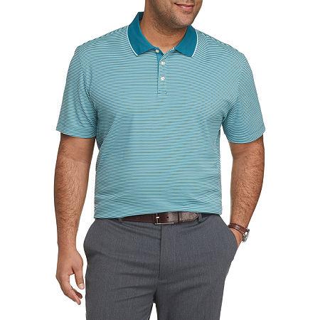 Van Heusen Air Mens Short Sleeve Polo Shirt Big and Tall, 2x-large Tall , Blue