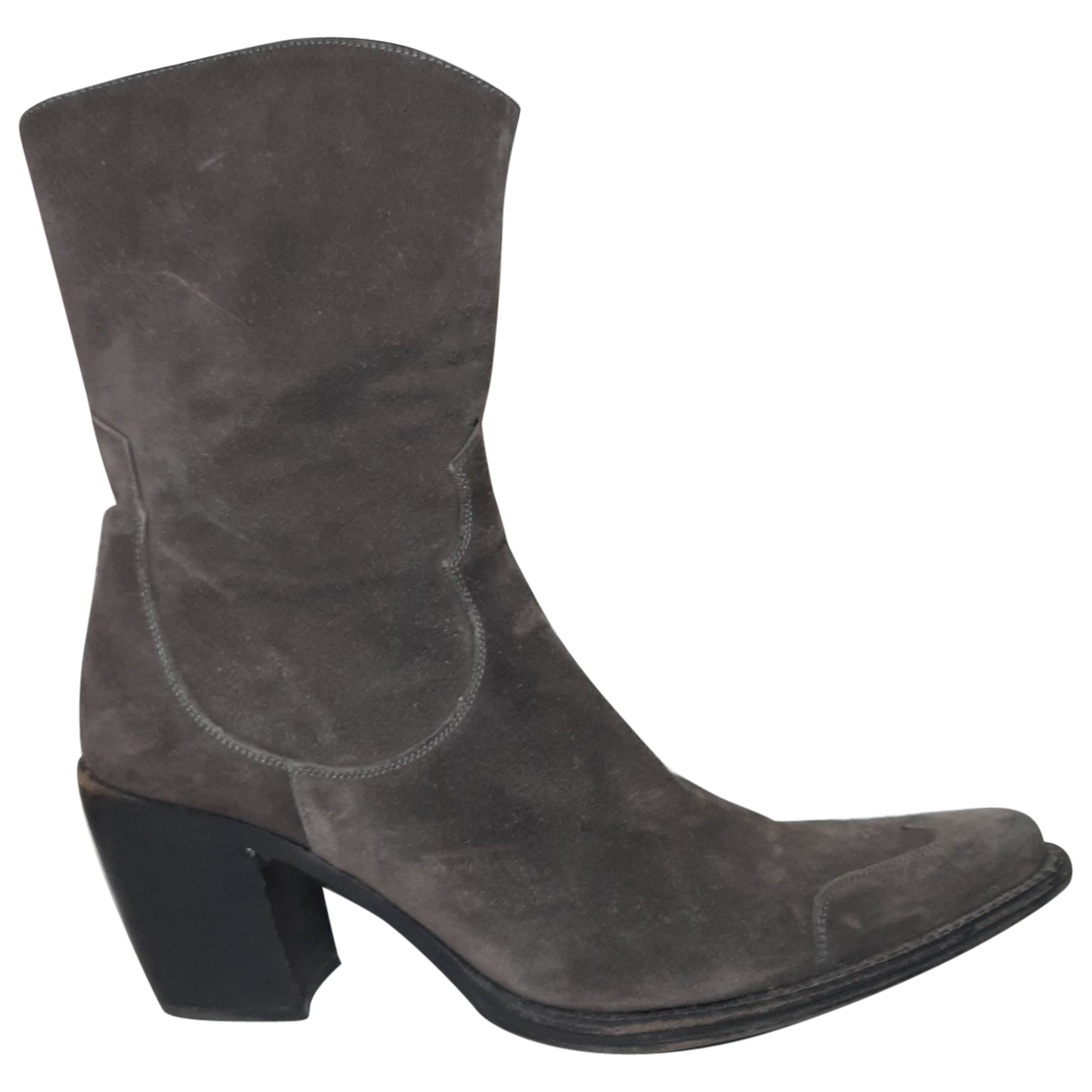 Free Lance \N Brown Suede Ankle boots for Women 38.5 EU