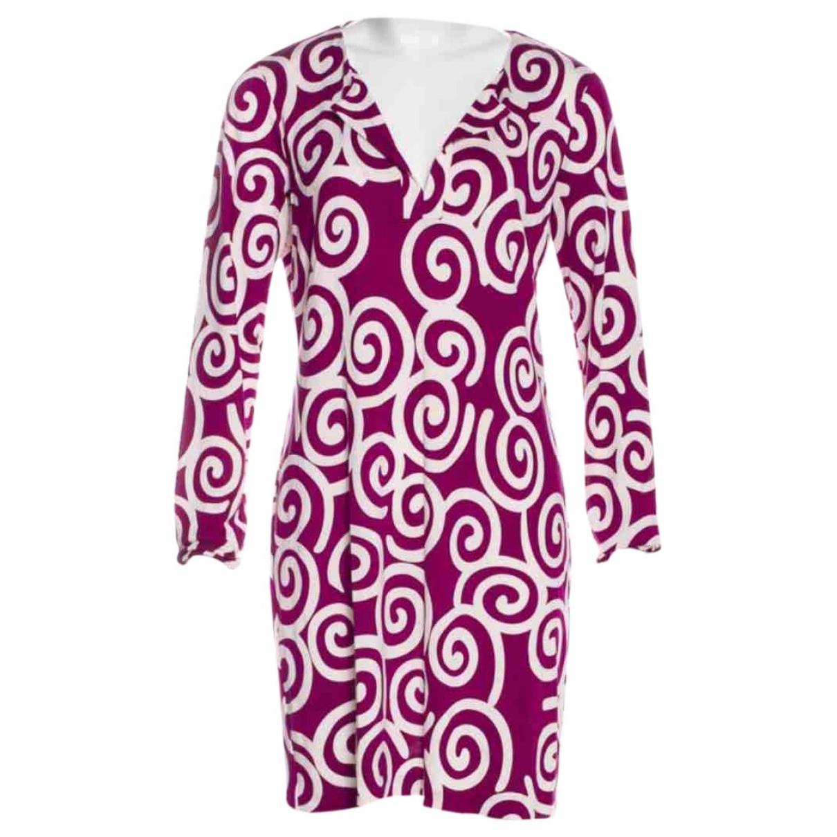Diane Von Furstenberg - Robe   pour femme en soie - violet