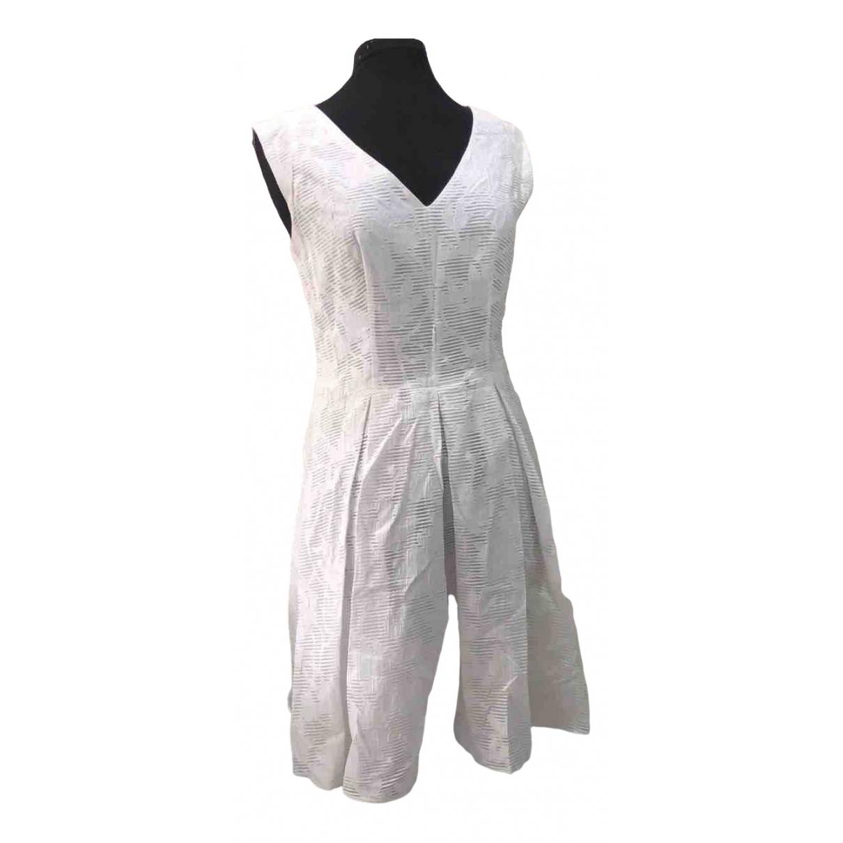 Hugo Boss \N Kleid in  Weiss Baumwolle