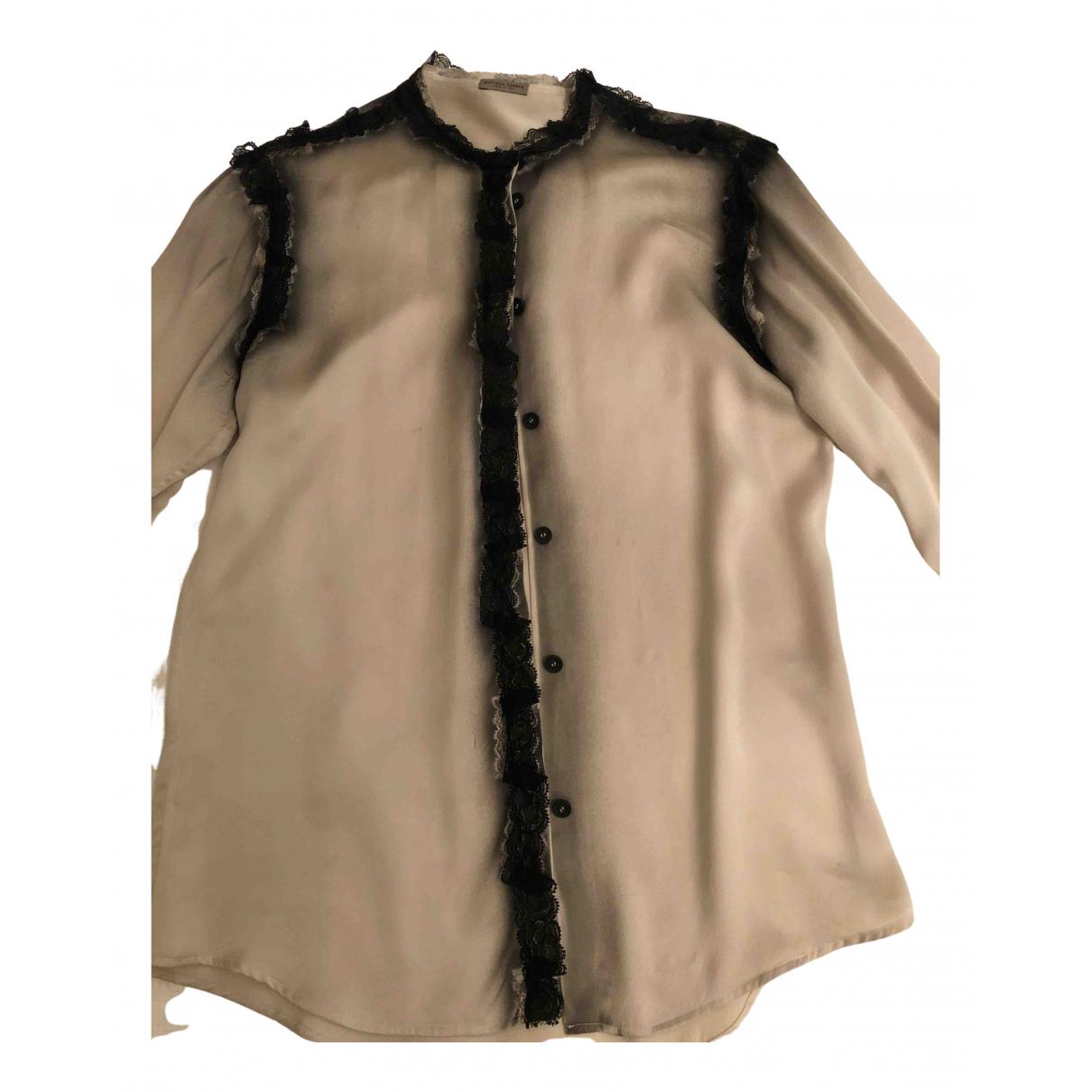 Bottega Veneta \N Beige Silk  top for Women 42 IT