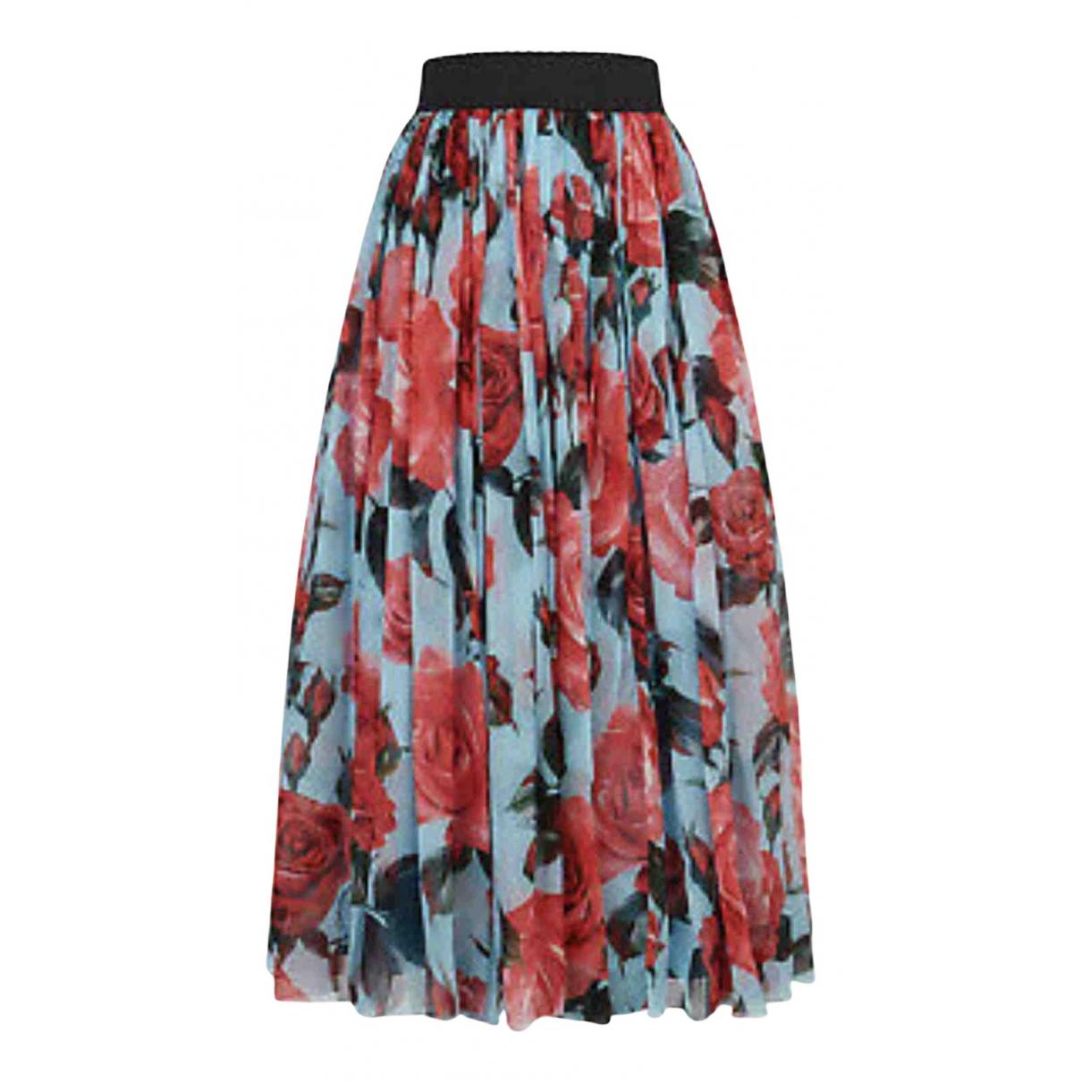 Dolce & Gabbana N Blue Silk skirt for Women 40 IT