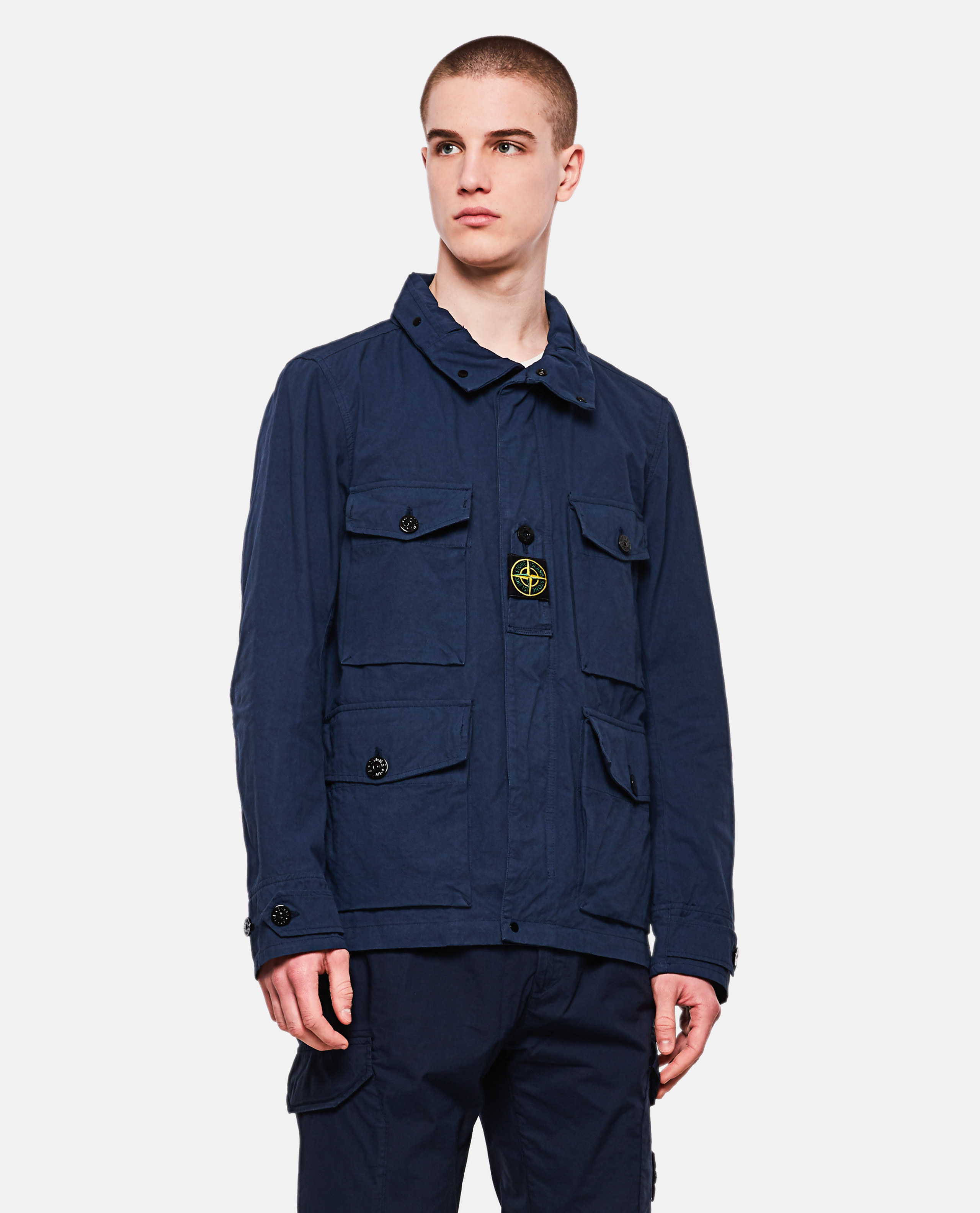 Jacket with zip and button closure
