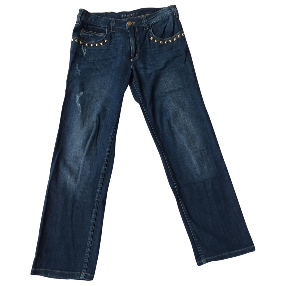Sandro \N Blue Cotton - elasthane Jeans for Women 38 FR