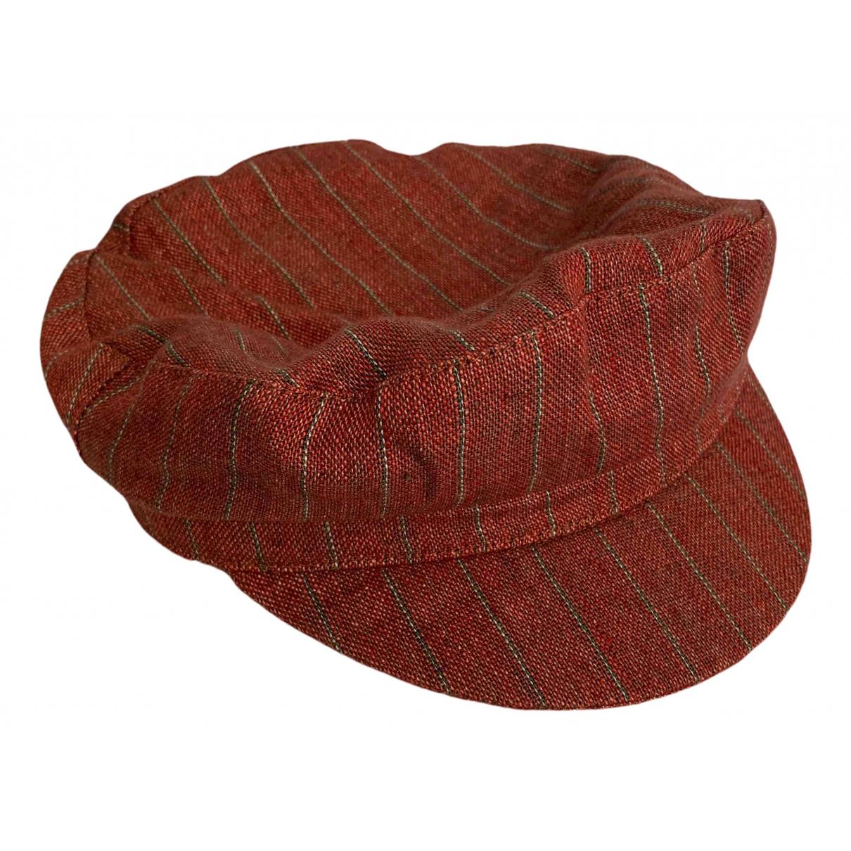 Isabel Marant - Chapeau   pour femme en lin - bordeaux