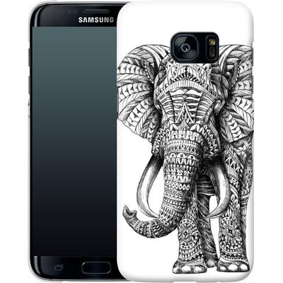 Samsung Galaxy S7 Edge Smartphone Huelle - Ornate Elephant von BIOWORKZ