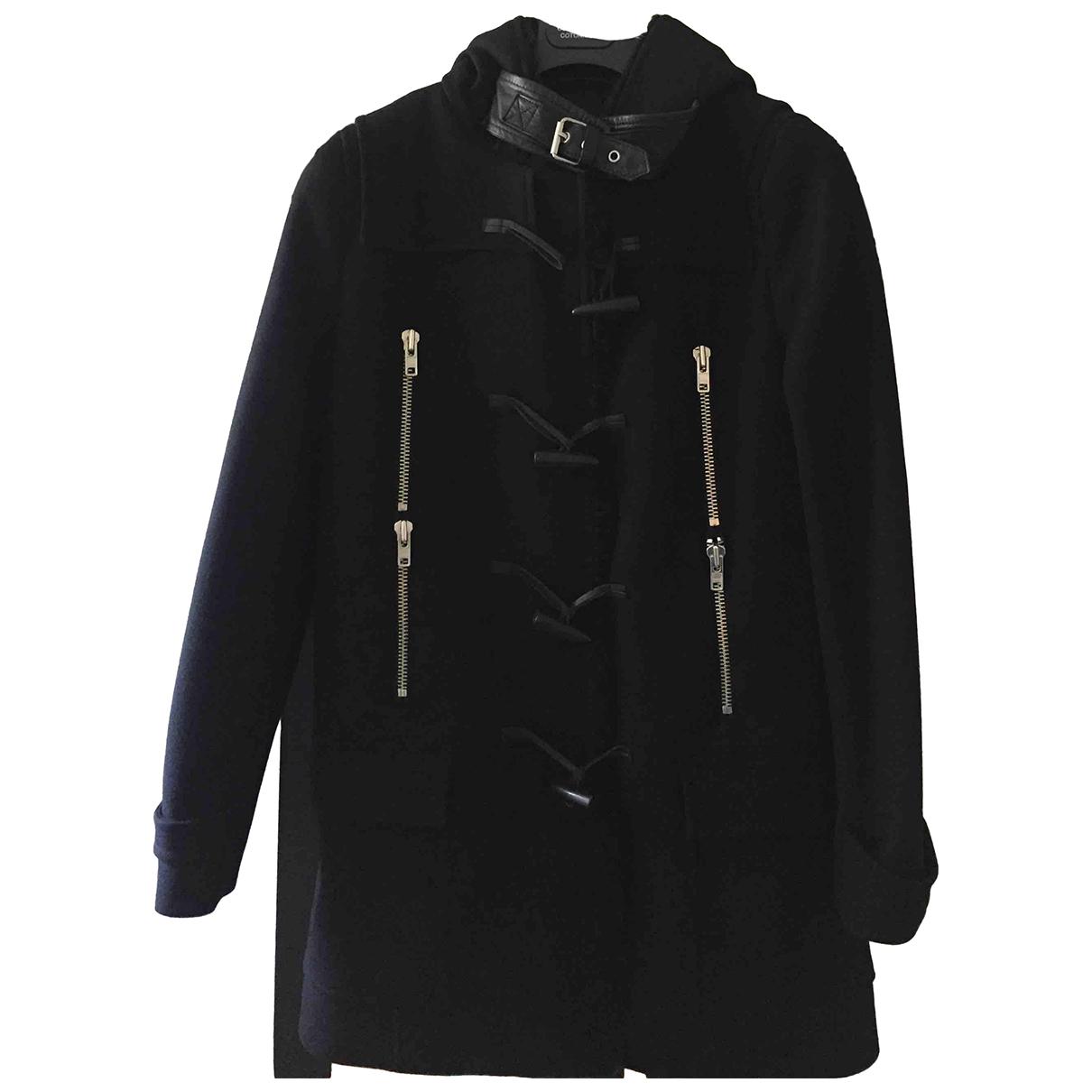 The Kooples - Manteau   pour femme en laine - noir