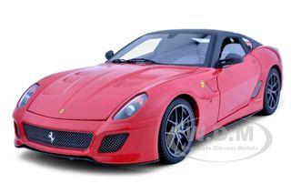 2011 Ferrari 599 GTO Red Elite Edition 1/18 Diecast Car Model Hotwheels