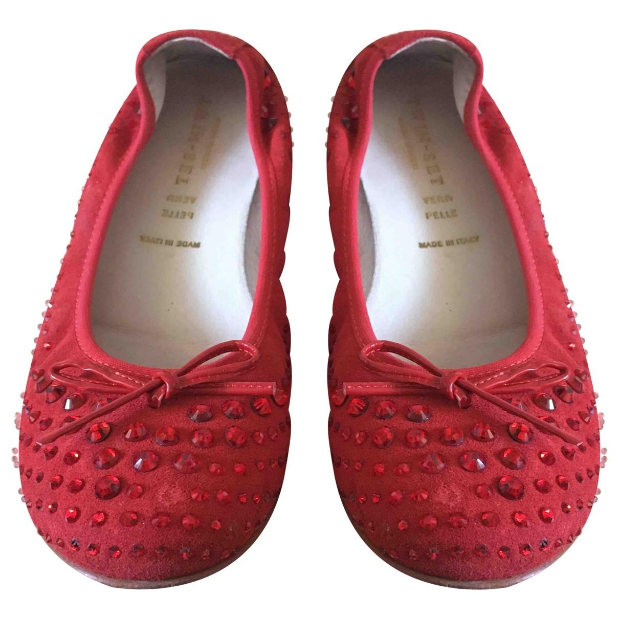 Twin Set - Ballerines   pour femme en cuir - rouge