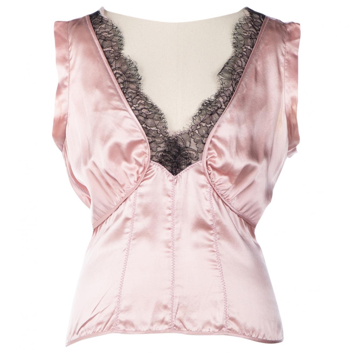 Prada - Top   pour femme en soie - rose