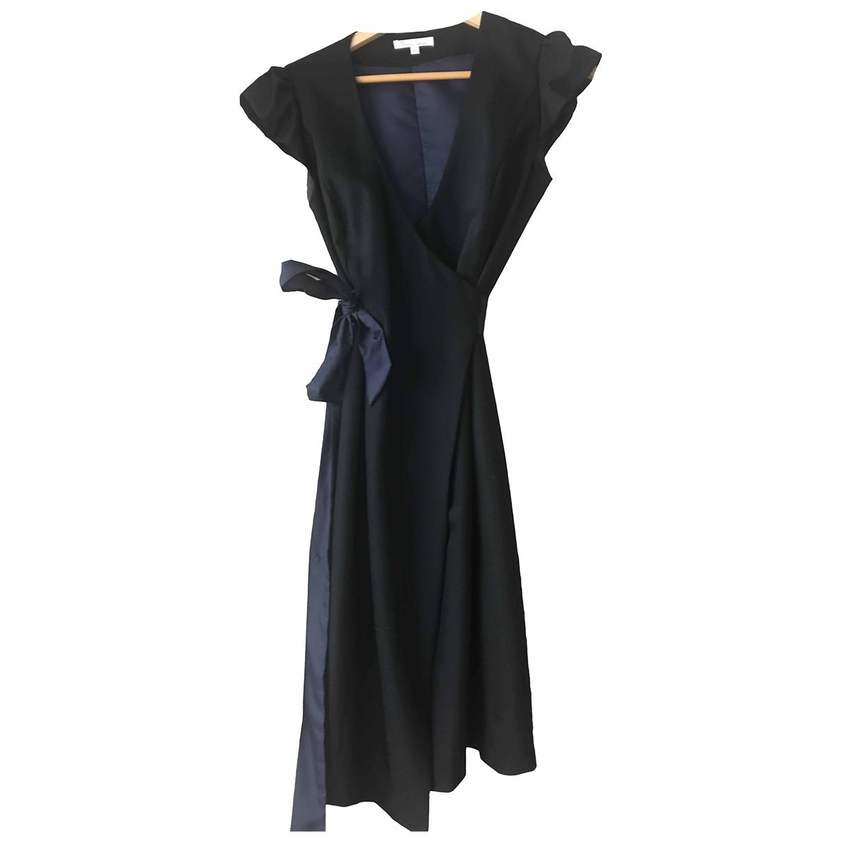 Les Petites \N Kleid in  Schwarz Wolle