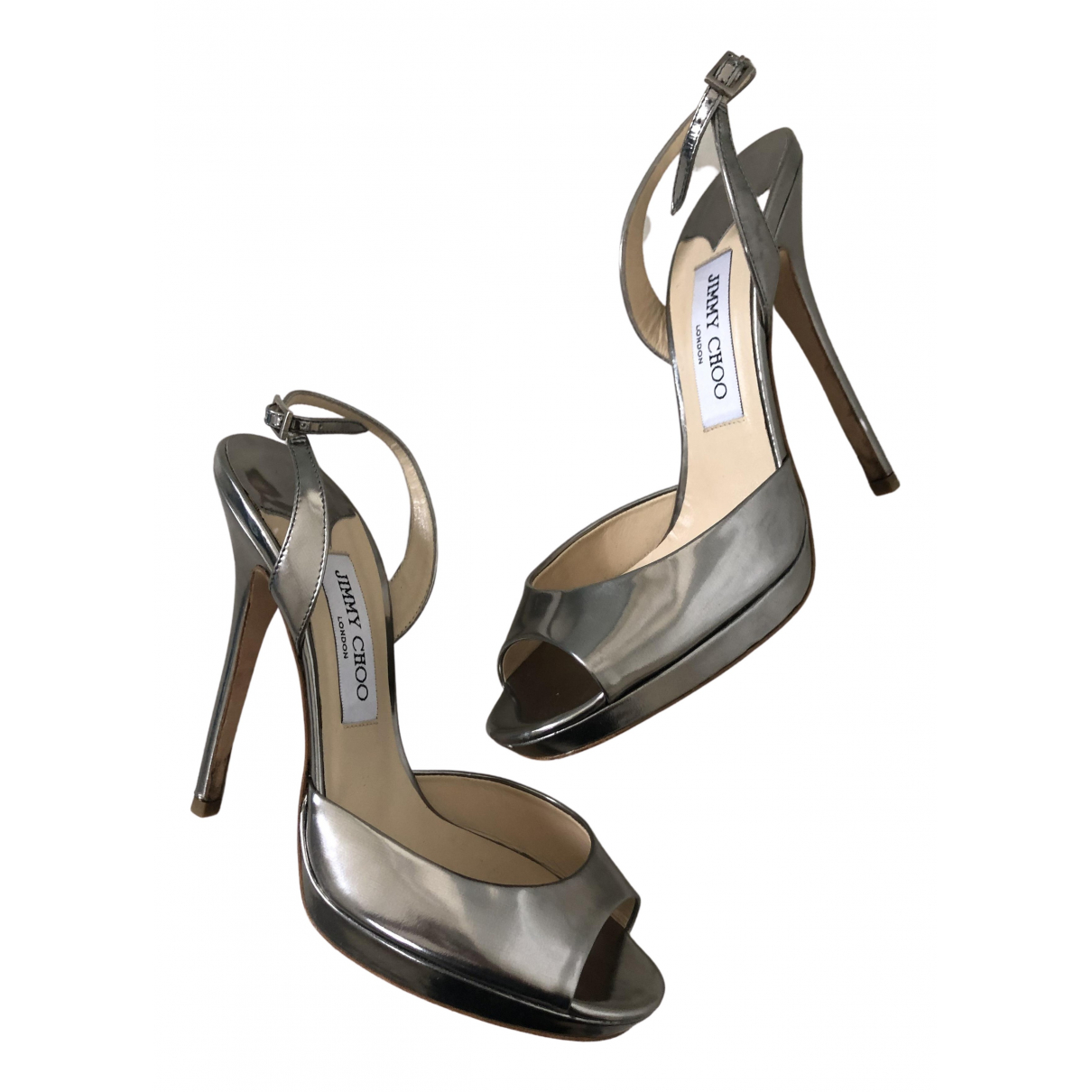 Jimmy Choo \N Sandalen in  Metallic Lackleder
