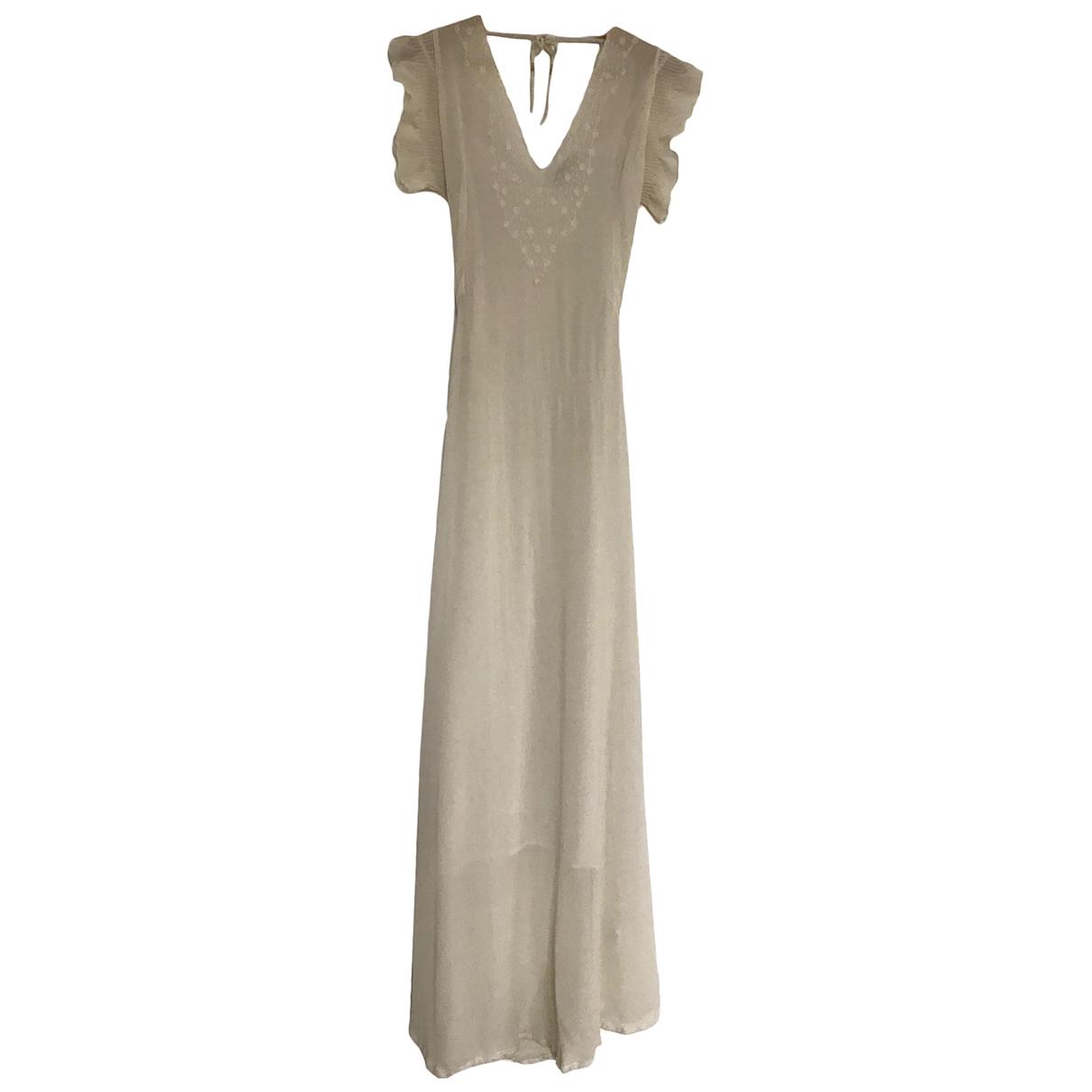 Mes Demoiselles ... N Ecru Silk dress for Women 36 FR