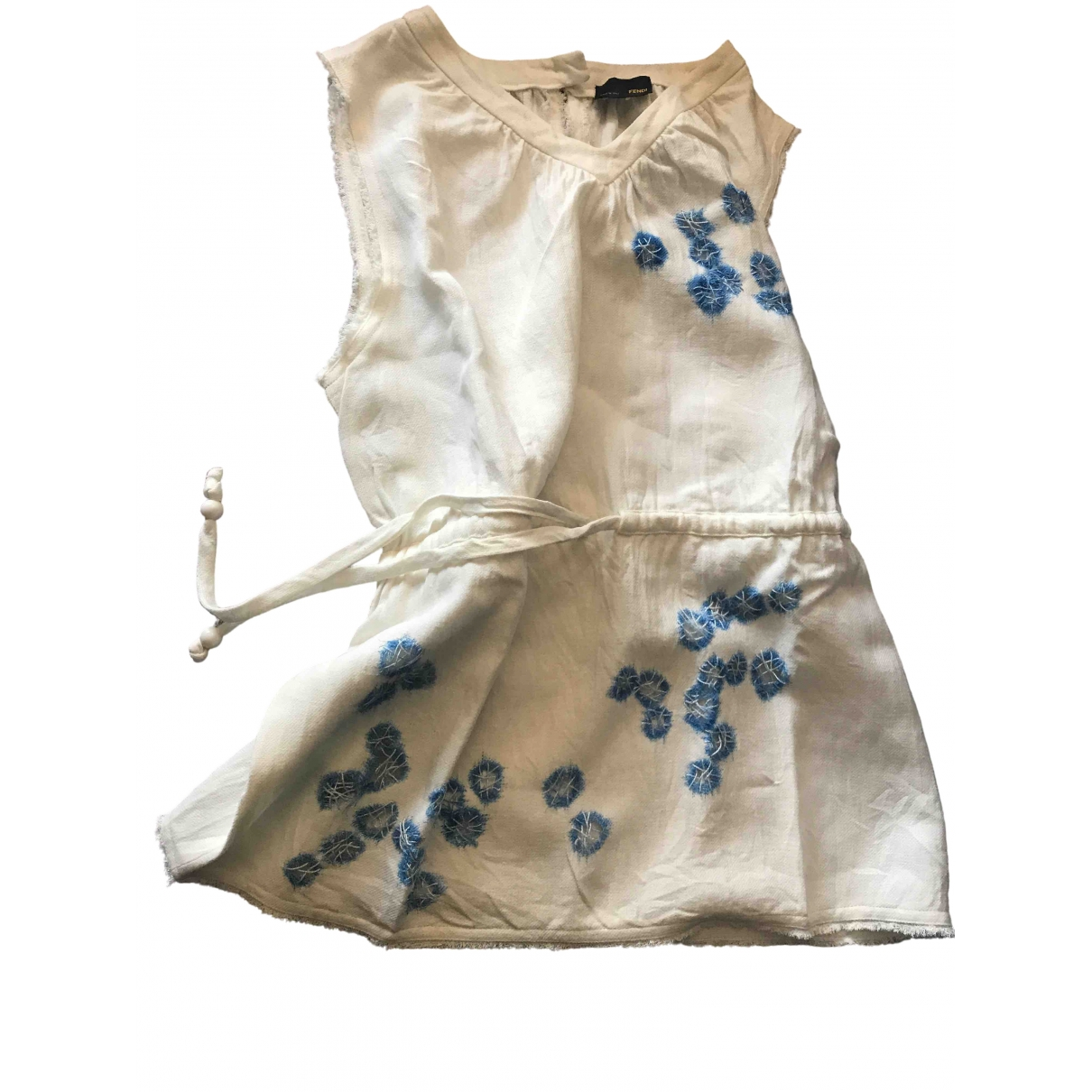 Fendi \N White Linen  top for Women 42 IT