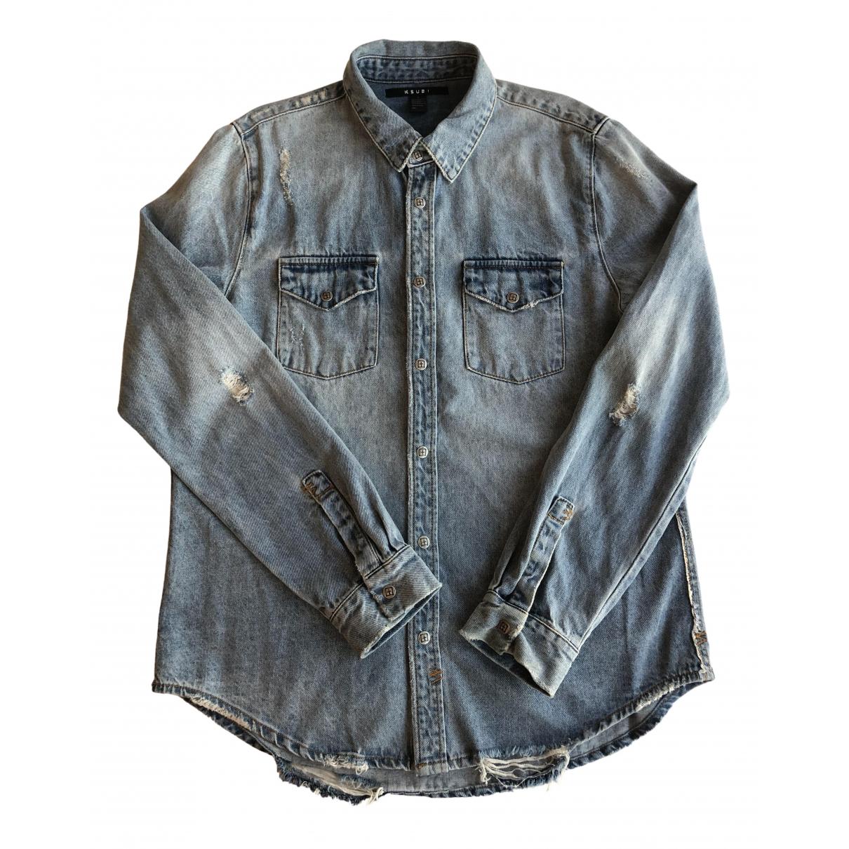 Ksubi - Chemises   pour homme en denim - bleu