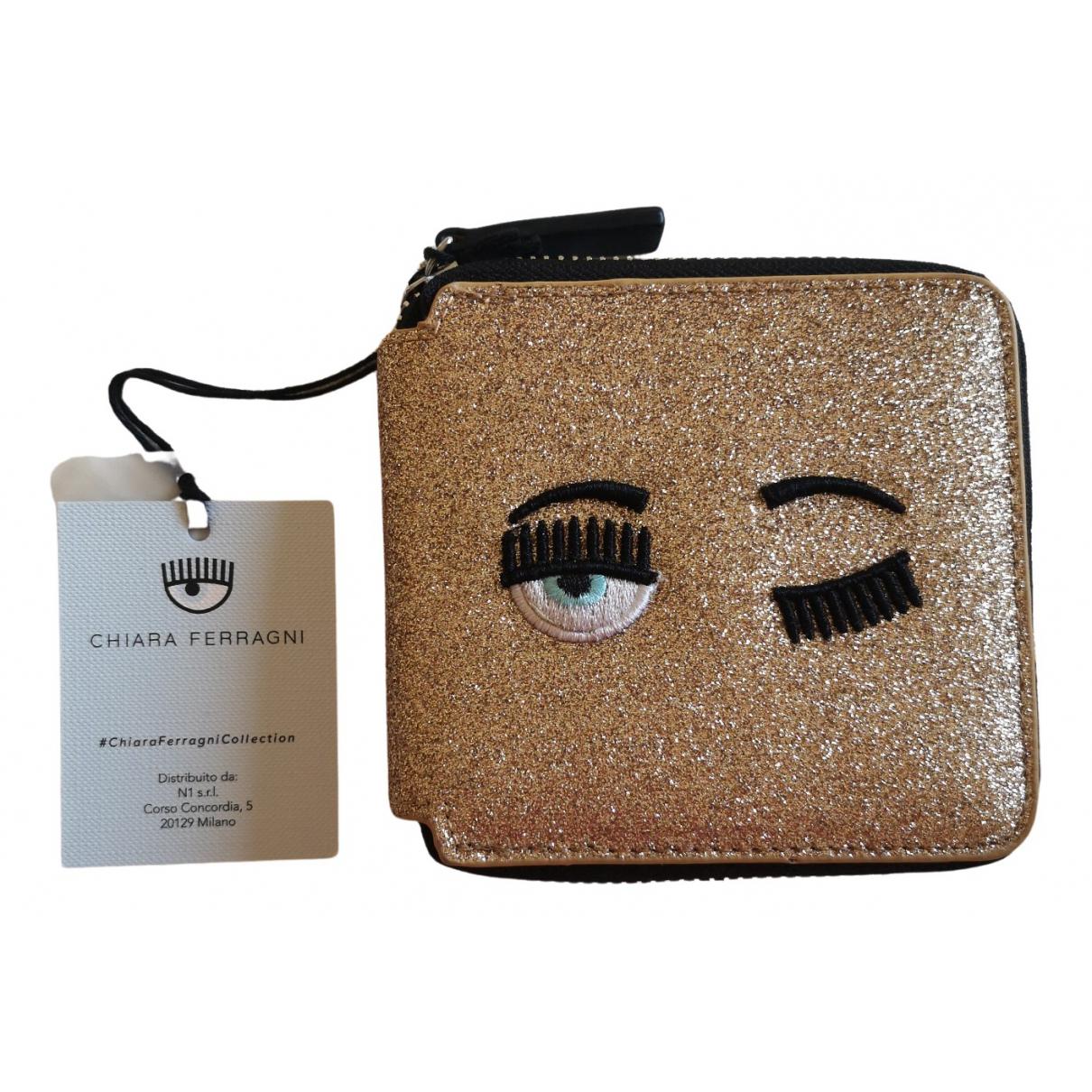 Chiara Ferragni \N Gold Leather wallet for Women \N