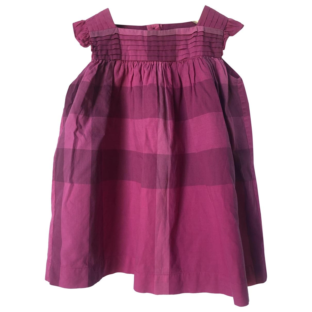 Burberry - Robe    pour enfant en coton - violet