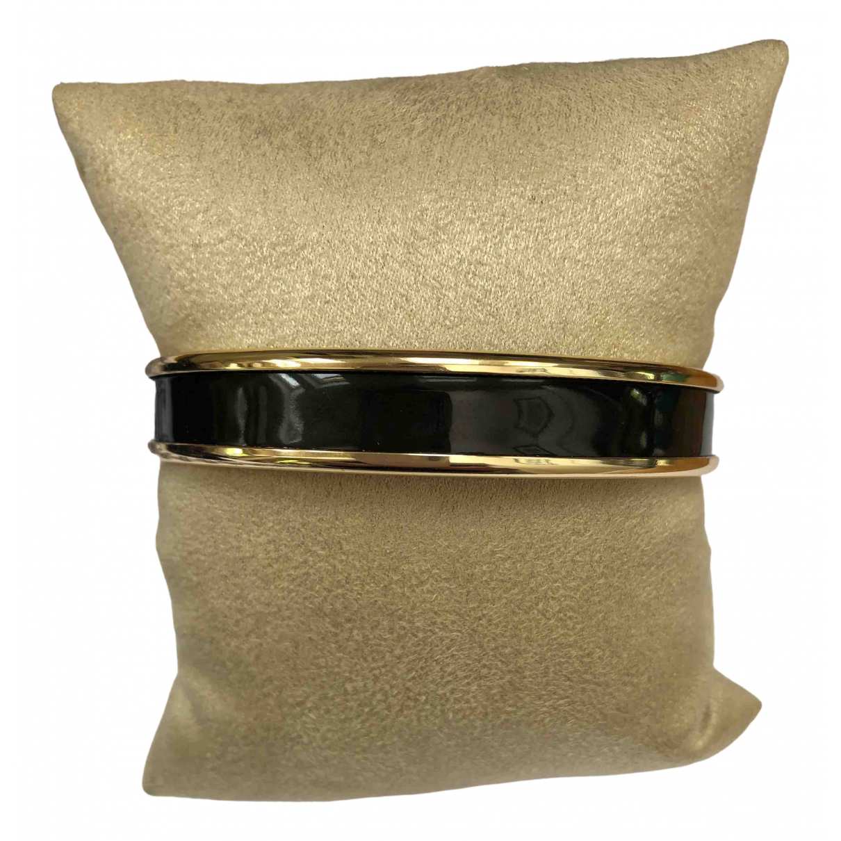 Non Signe / Unsigned \N Armband in  Schwarz Vergoldet