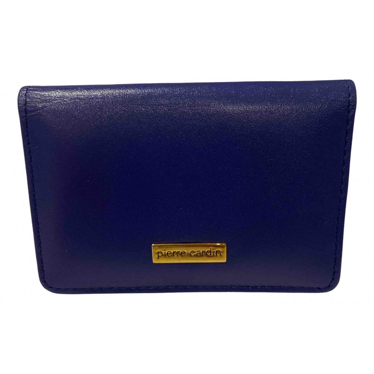 Pierre Cardin - Petite maroquinerie   pour femme en cuir - bleu
