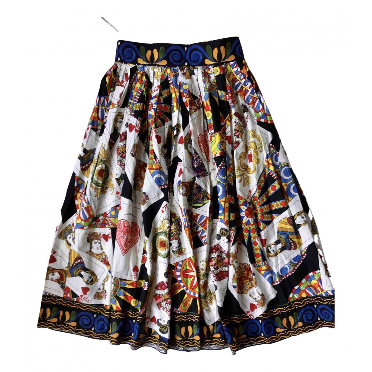 Dolce & Gabbana - Jupe   pour femme en coton - multicolore