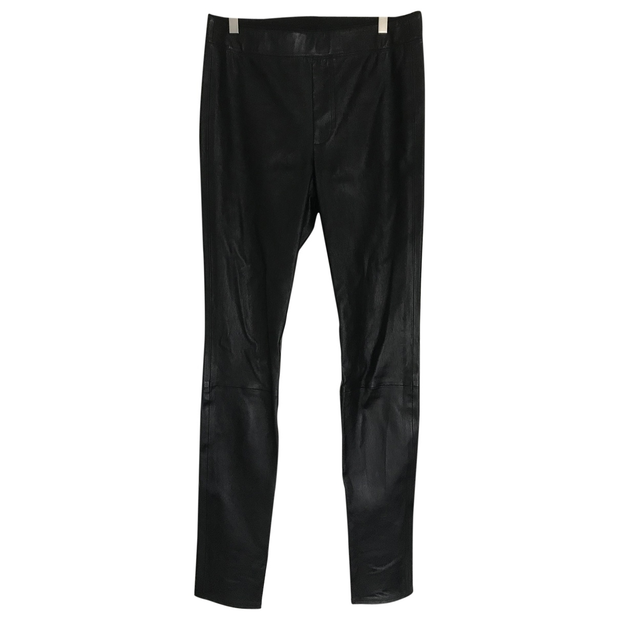 Helmut Lang \N Black Leather Trousers for Women 8 US