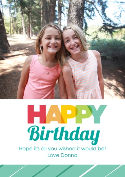 Birthday Greeting Cards 5x7 Cards, Premium Cardstock 120lb with Scalloped Corners, Card & Stationery -Rainbow Greetings