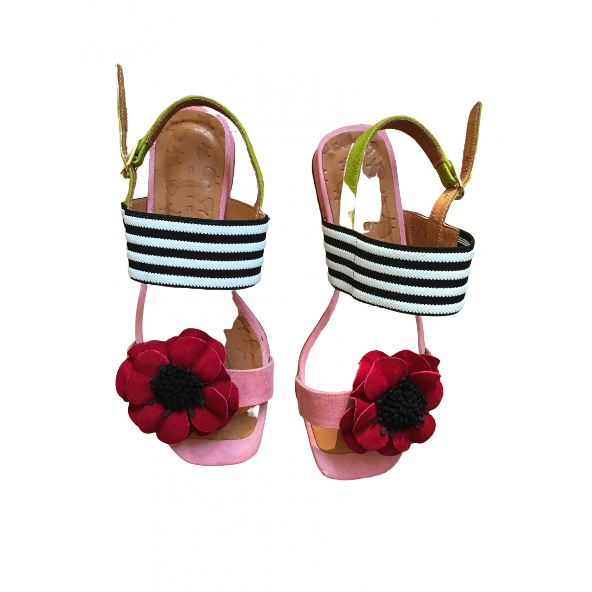 Chie Mihara - Sandales   pour femme en cuir - rose