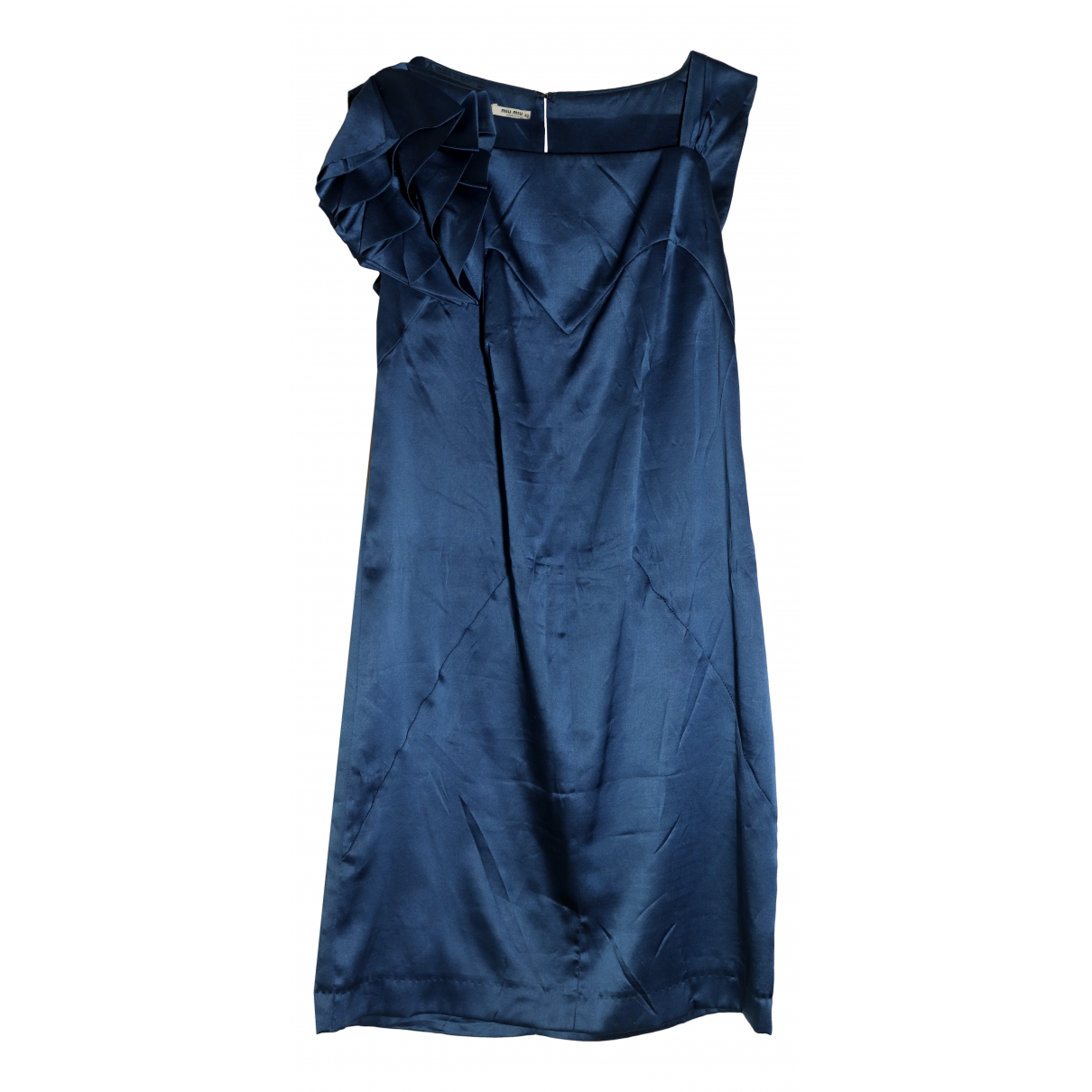 Miu Miu \N Kleid in  Blau Seide